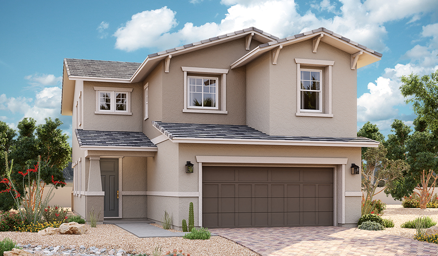 Exterior A of the Cottonwood floor plan