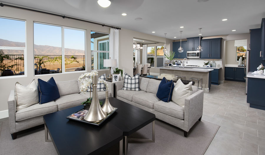 Great room of the Andrea plan in Inland Empire