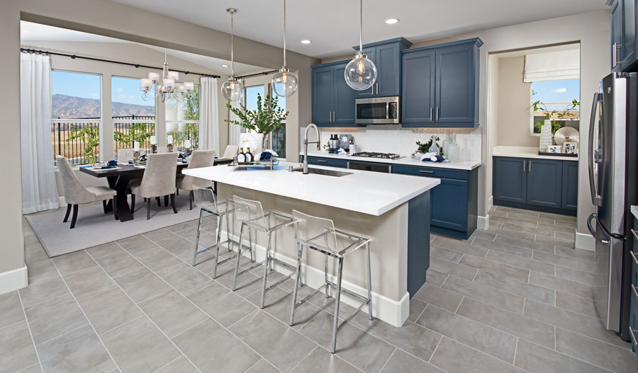 Kitchen of the Andrea floor plan in Inland Empire