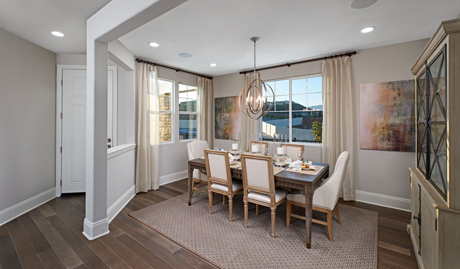 Dining room of the Seth plan in Inland Empire