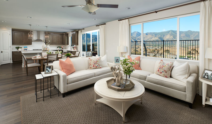 Great room of the Seth plan in Inland Empire