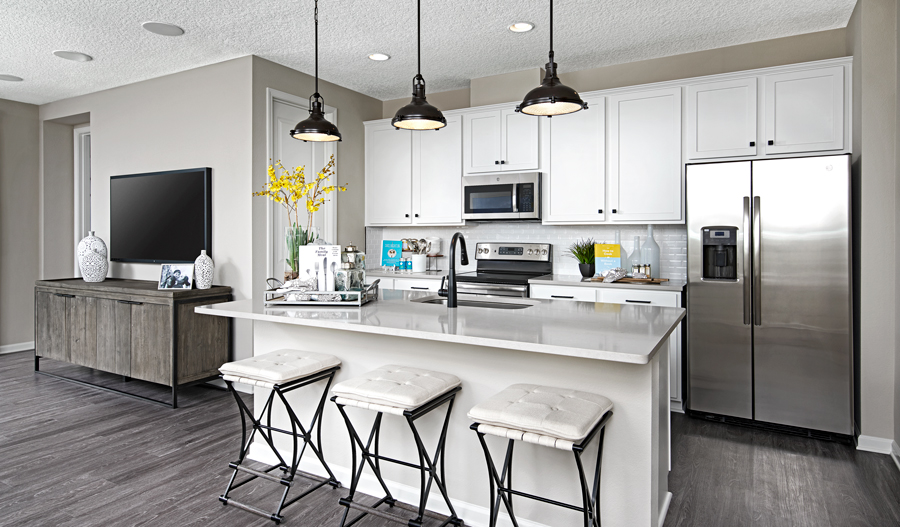 Kitchen of the Larimar plan in JAX
