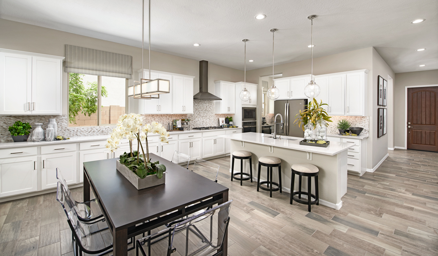 Kitchen of the Raleigh plan in Las Brisas in PHX