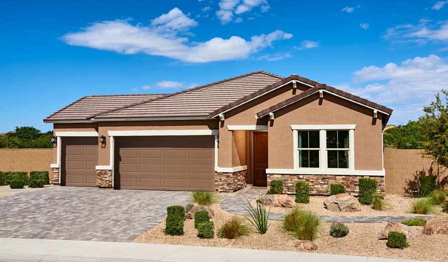 Exterior of the Raleigh plan in Las Brisas in PHX