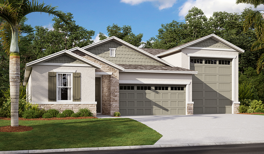 Exterior C of the Pewter floor plan
