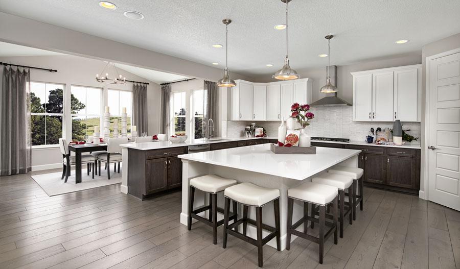 Kitchen of the Seth plan in Denver