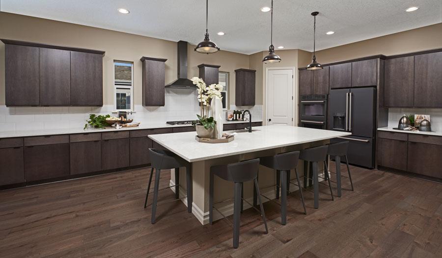 Kitchen of the Pinecrest plan in Denver