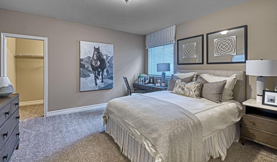 Guest bedroom of the Pinecrest plan in Denver