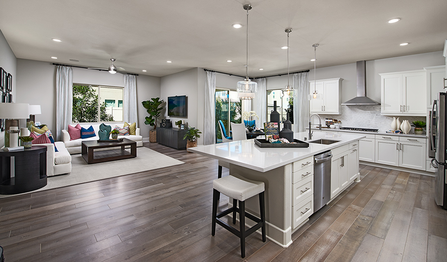 Great room of the Avalon floor plan