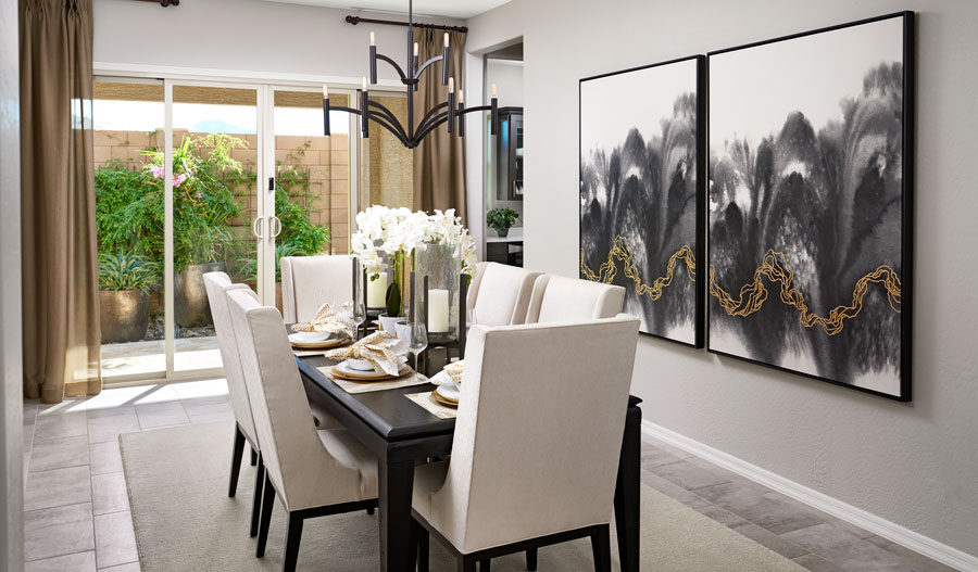 Dining room of the Julia plan in PHX