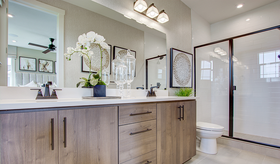 Master bath of the Chicago plan in PDX Lot 88