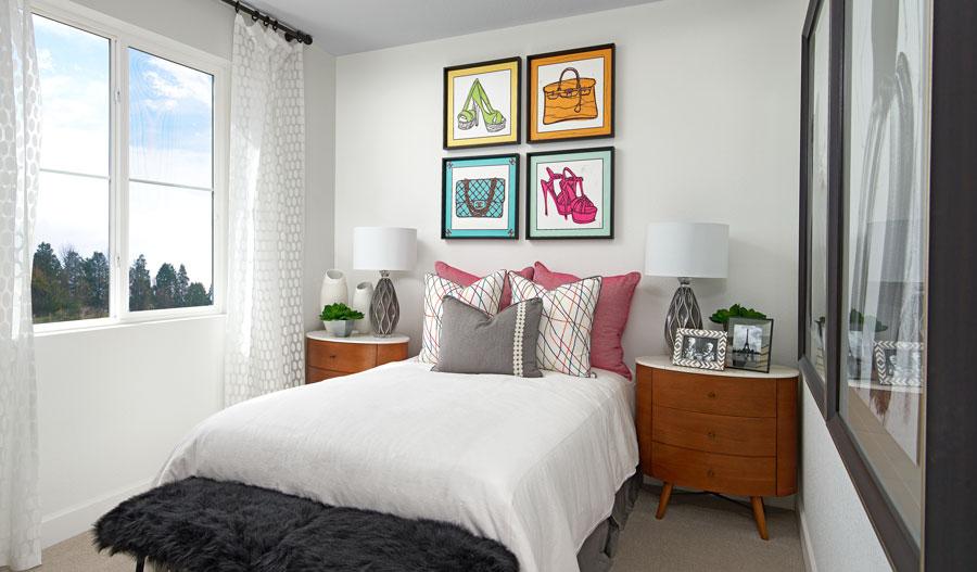 Bedroom of the Chicago plan in Denver