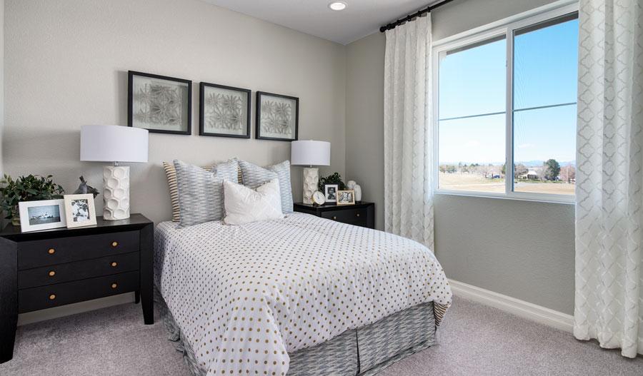 Bedroom of the Boston plan in Denver