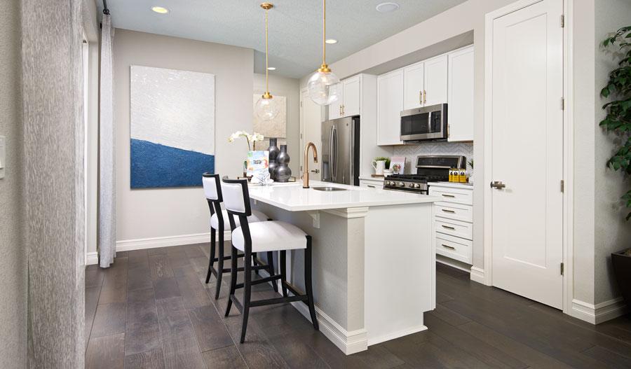 Kitchen of the Boston plan in Denver