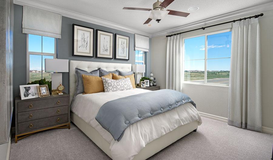 Owner's bedroom of the Boston plan in Denver