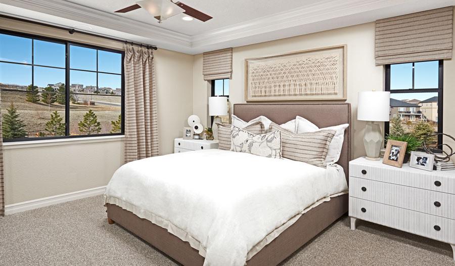 Owner's bedroom of the Harris plan in Denver