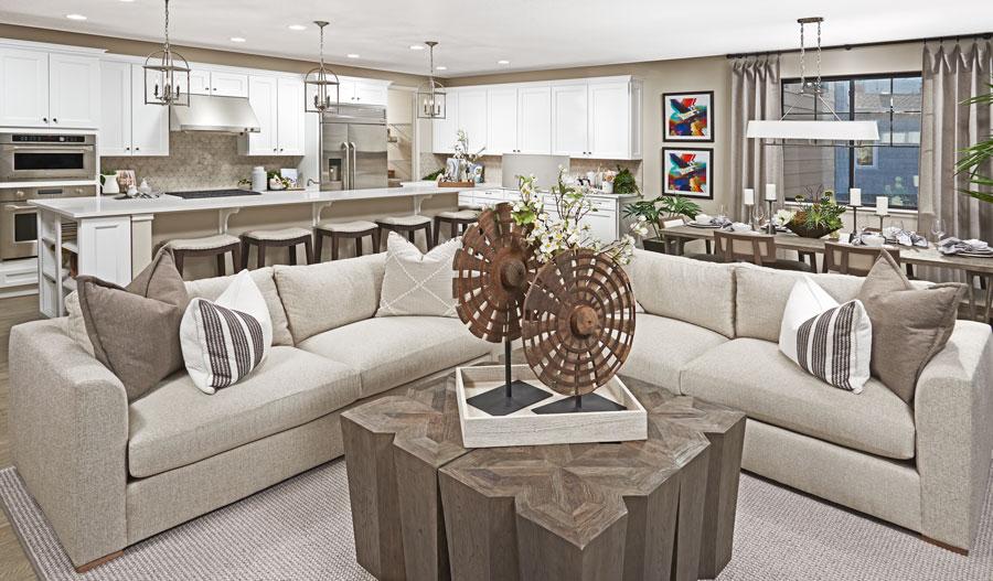 Great room of the Harris floor plan in Denver