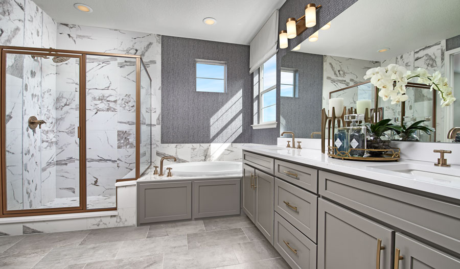 Owner's bathroom of the Dillon II plan in Denver