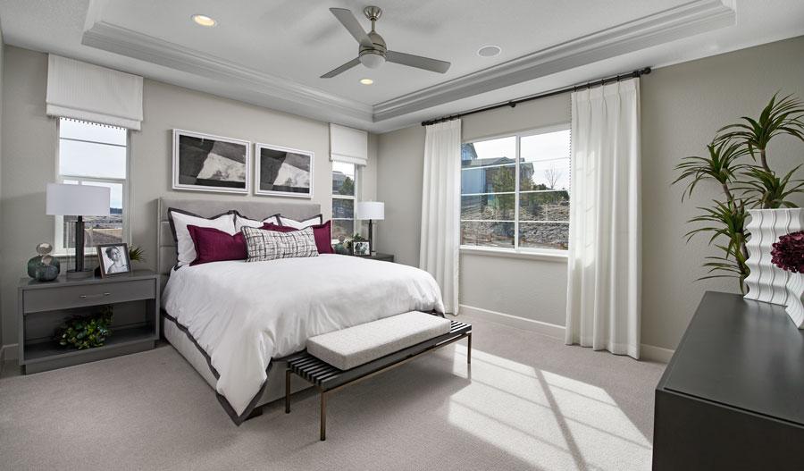 Owner's bedroom of the Dillon II plan in Denver