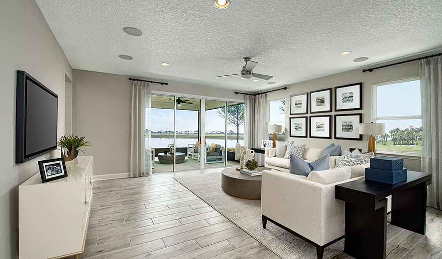 Family room of the Raleigh plan in JAX