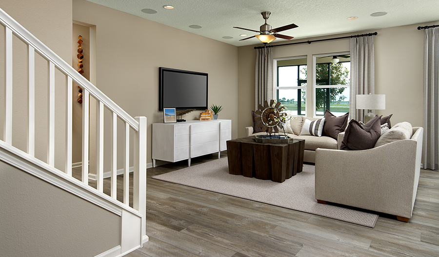 Family room of the Appleby plan in JAX