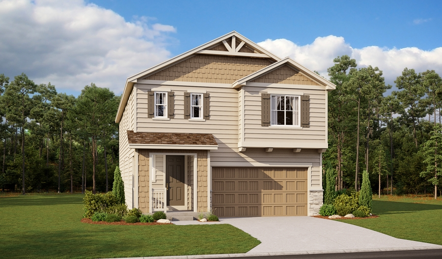 Exterior A the Laurel floor plan