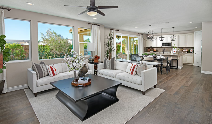 Great room of the Sienna plan in Bay Area