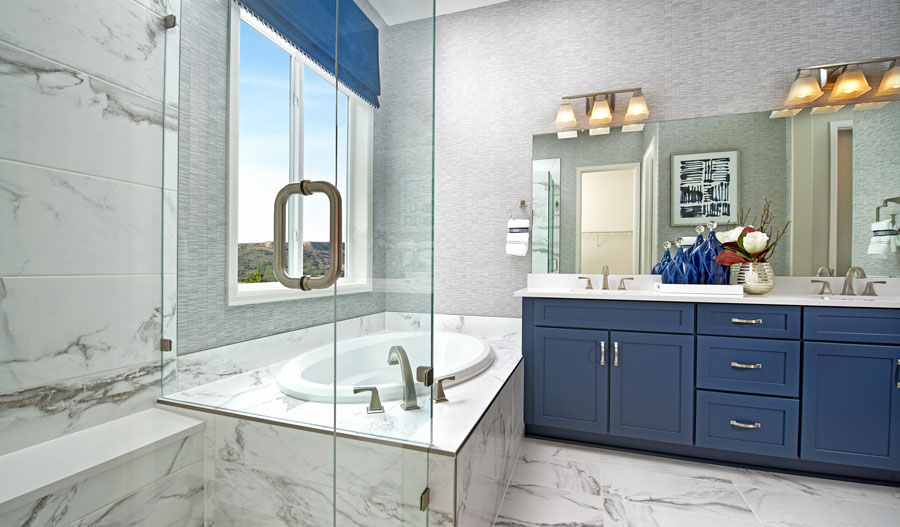 Owner's bathroom of the Decker plan in Castle Rock