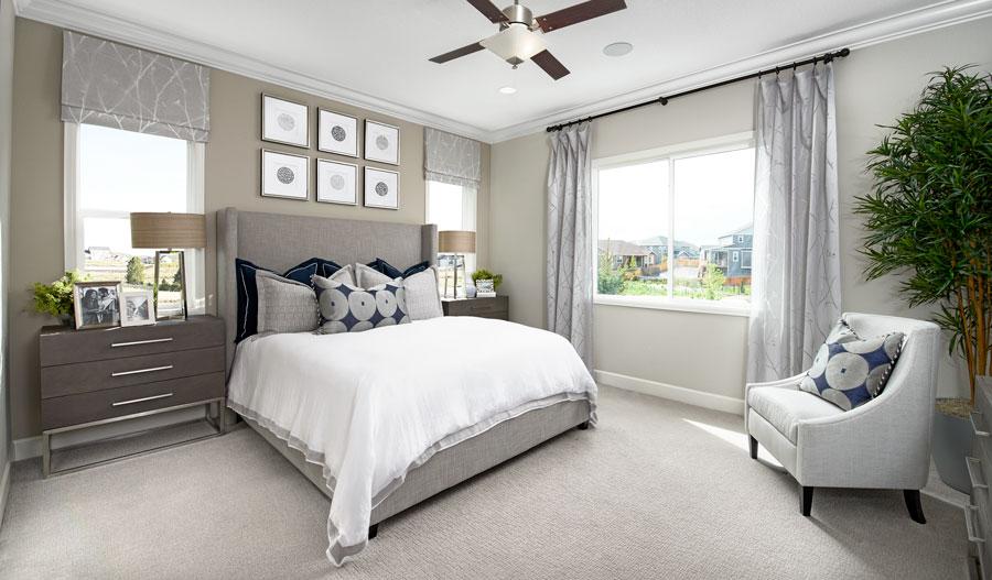 Owner's bedroom of the Decker plan in Castle Rock