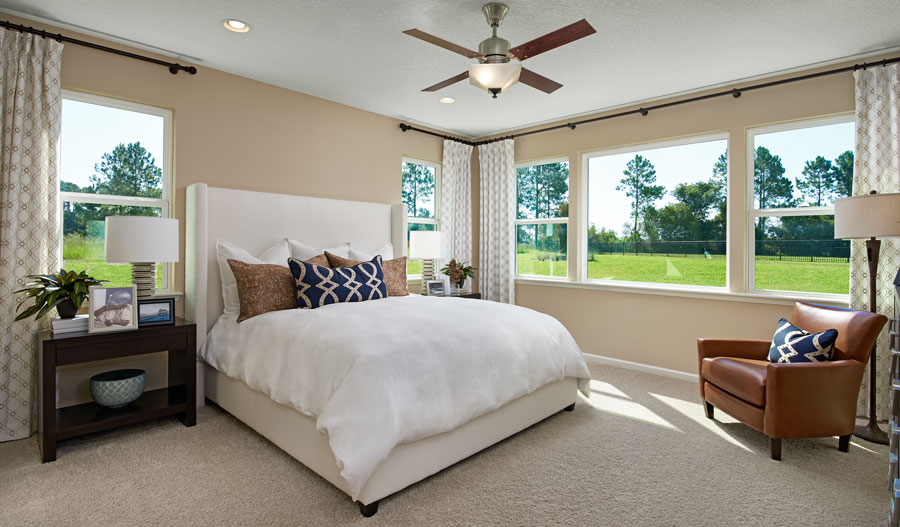 Master bedroom of the Hanson plan in JAX
