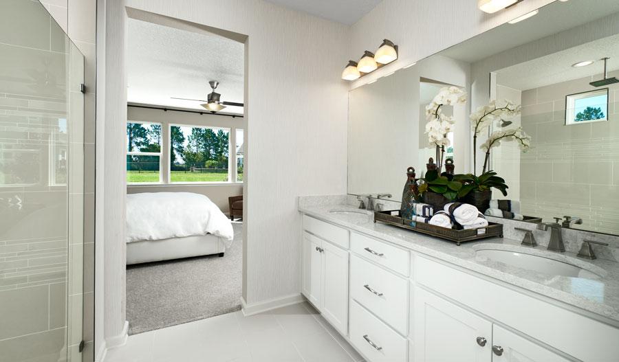 Owner's bathroom of the Hanson plan in JAX