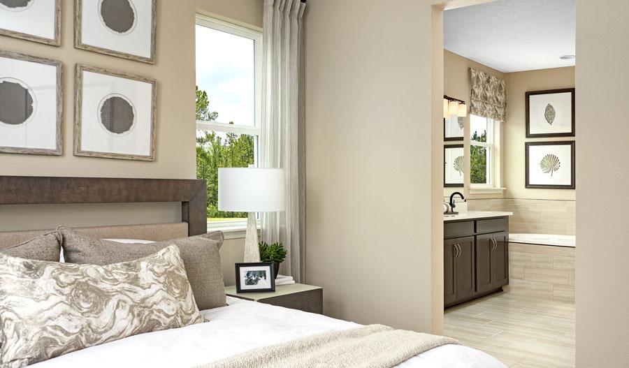 Owner's bedroom of the Slate plan in JAX