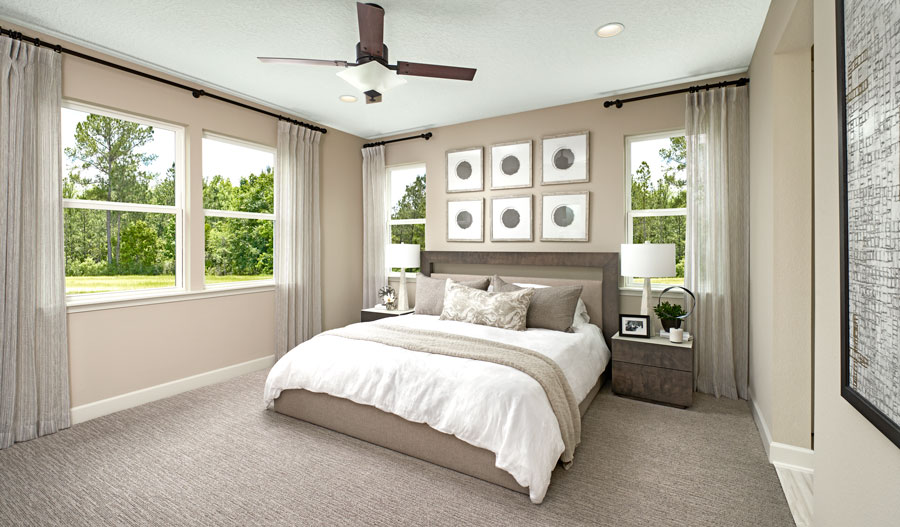 Master bedroom of the Slate plan in JAX
