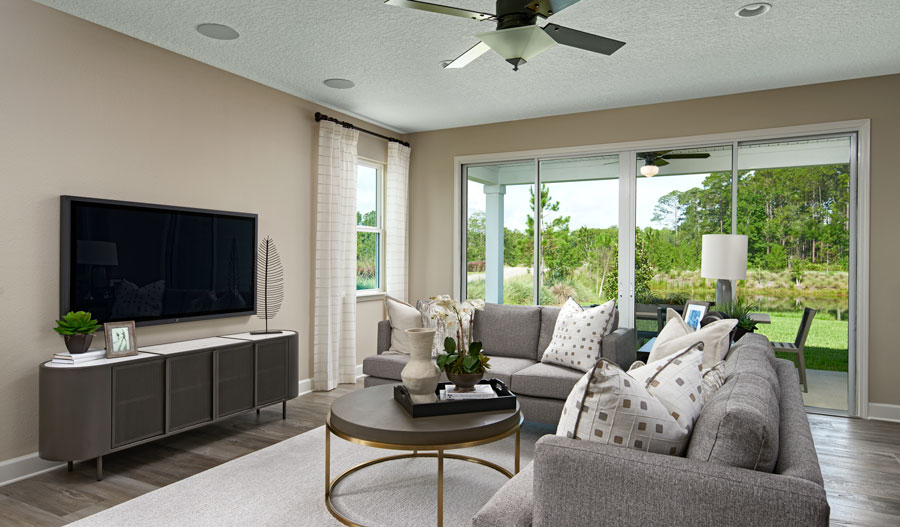 Family room of the Slate plan in JAX