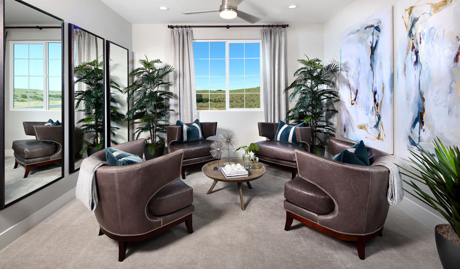 Sitting room in the Erickson plan in NCA