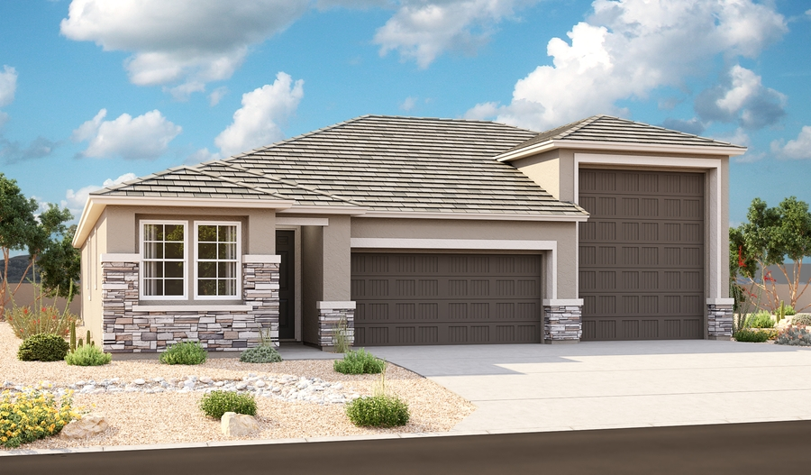 Exterior C of the Pewter plan