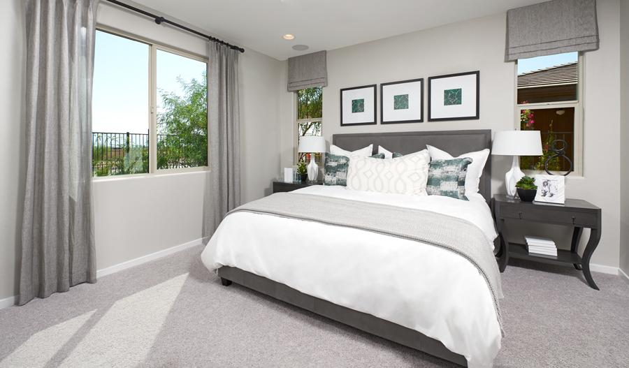 Owner's bedroom of the Emerald plan