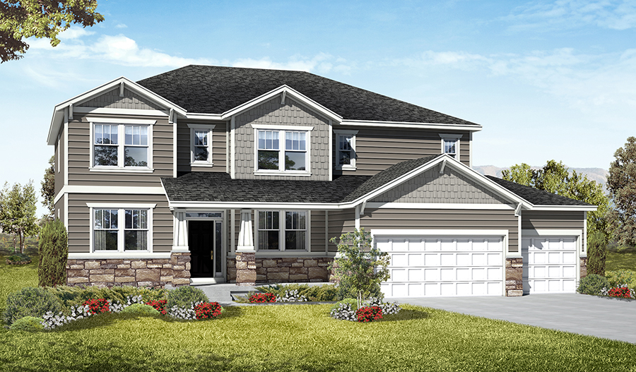 Exterior C of the Darla floor plan in the Royal Farms community