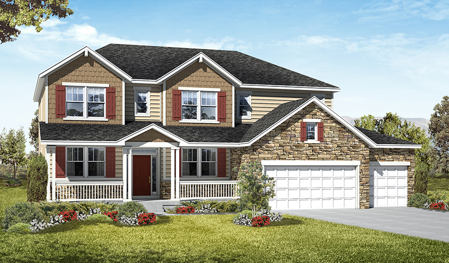 Exterior D of the Darla floor plan in the Royal Farms community