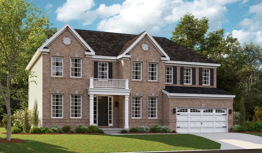 Exterior E of the Amherst floor plan