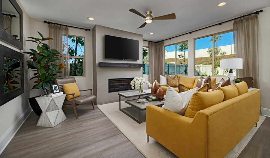 Family Room of the Felicity plan