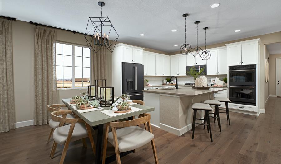 Kitchen dining of the Arlington plan