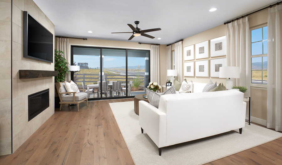 Living room of the Farmington plan