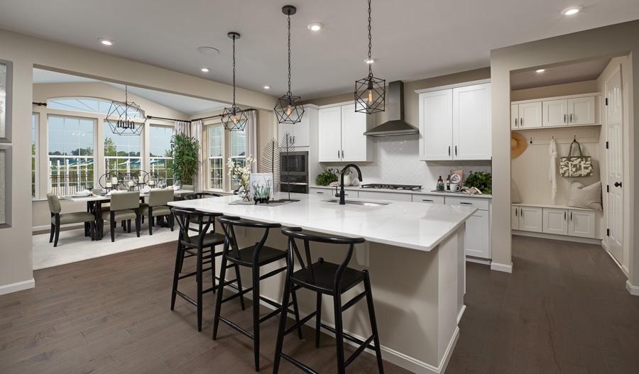 Kitchen dining of the Coronado plan