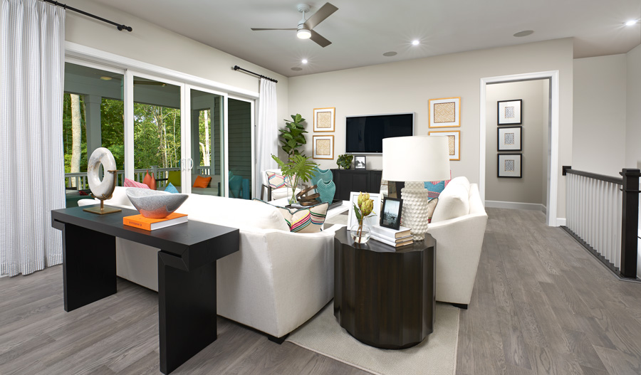Living room of the Decker plan