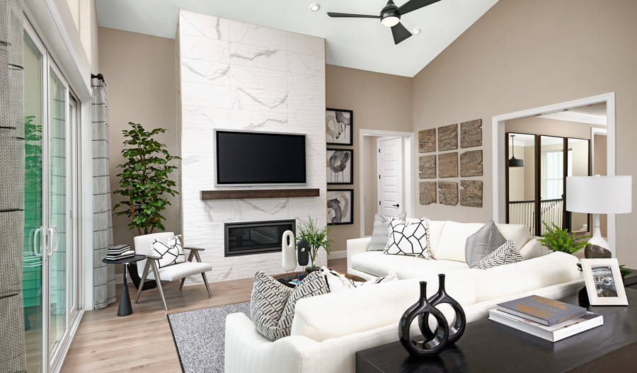 Family room of the Melody plan