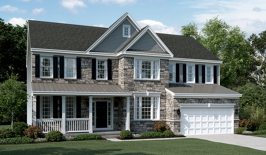 Exterior C of the Amherst floor plan in Old Dominion Greens