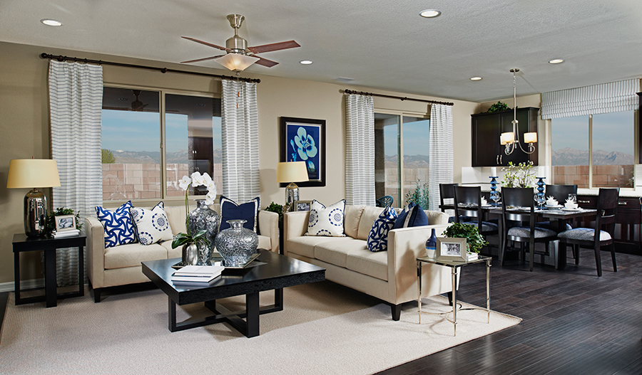 Family room in the Paige floor plan