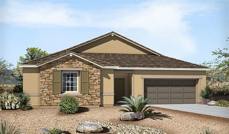 Exterior B of the Paige floor plan in the Granite Falls community
