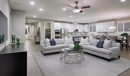Great room in the Paisley floor plan
